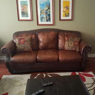 Leather couch and loveseat (2 for 1)