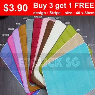 ➡️buy3get1free floor mat carpet 40x60cm anti slip base