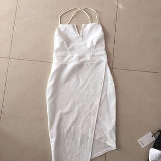 White Body Con Dress Size 8