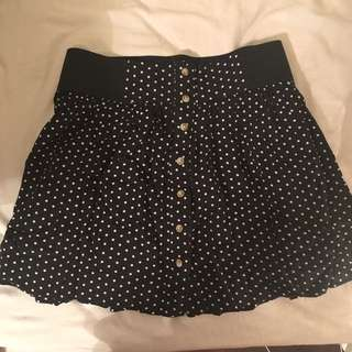 Garage Dotted Button Down Skirt