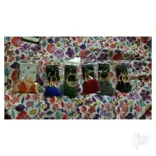 Tassel Earrings Black 😊💁