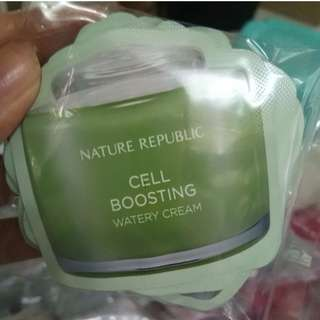 NATURE REPUBLIC Cell Boosting Watery Cream (sachet)