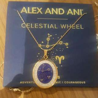 Alex and Ani Gold Aries Necklace