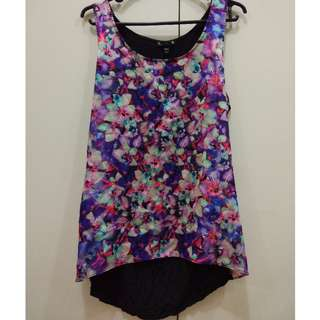 Floral Loose Sleeveless Top