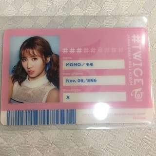 twice momo 日專 小卡