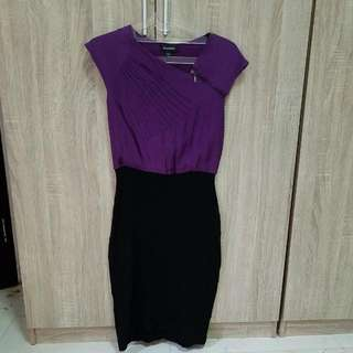 Dress Bebe Small Purple Black
