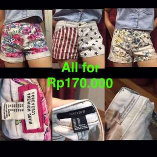 3 Shorts For Rp170.000