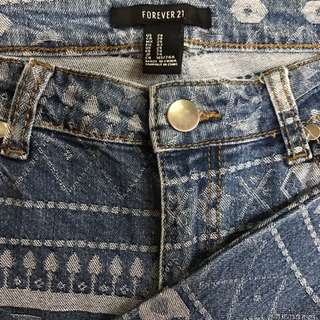 Forever 21 Aztec Print Jeans