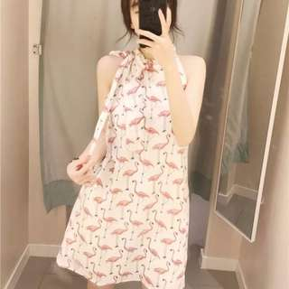 Chic Flamingo Dress