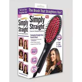 fast brush straight hair