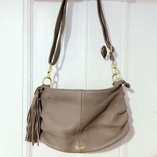 Etoupe Color Genuine Leather Cross body /shoulder Bag