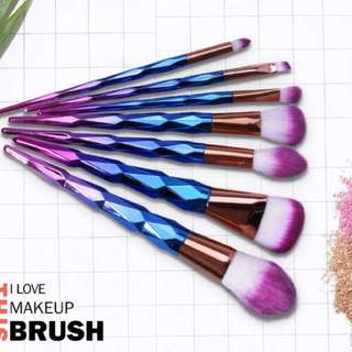 BN 7-Piece Unicorn Rainbow Brush Set