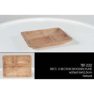手造木製餐碟