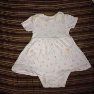 Carters White Onesie Dress