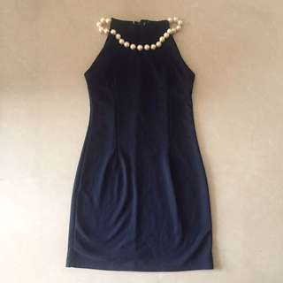 Navy Pearl Dress