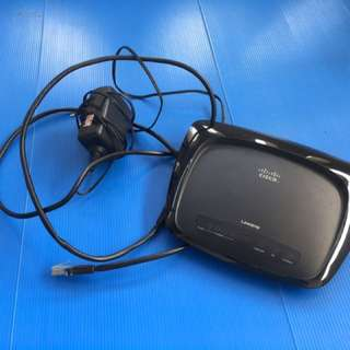 ROUTER+MODEM WIRELESS CISCO MODEL WAG54G2 (FREE ONGKIR JABODETABEK)