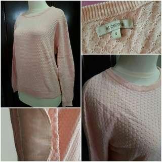 Et Cetera Peach Knit Sweater