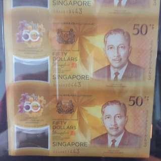 Uncut CIA 50 Anniversary SG/Brunei LE S$50 w Box