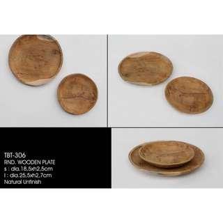 手製圓形木碟