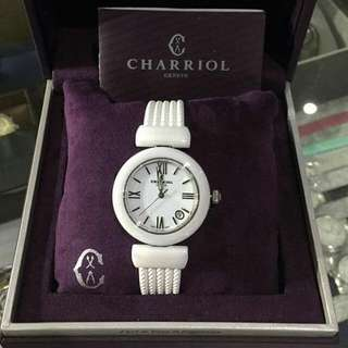 CHARRIOL  'Ael' Swiss Quartz Ceramic and Rubber Dress Watch