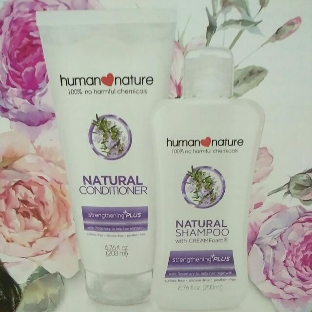 (15% Off) Human Nature Natural Shampoo and Conditioner (Strengthening +Plus)