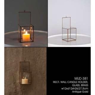 柱形玻璃蠟燭台
