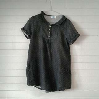 Dark Grey Patterned Blouse