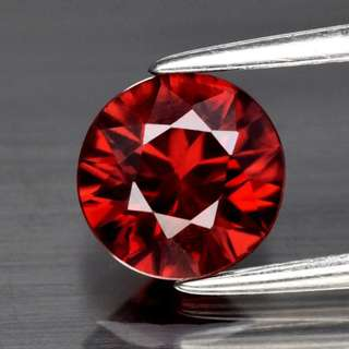 1.73ct Round Brilliant Natural Unheated Medium Orange Zircon