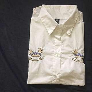 刺繡襯衫領背心