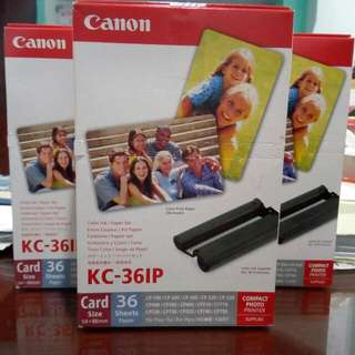 Canon Selphy KC-36IP Ink Cartridge And Photopaper Set