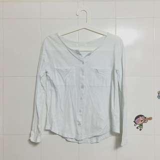 白色襯衫上衣 (二手)