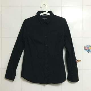 黑色襯衫(二手)