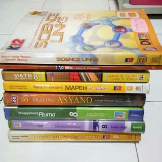 Books For K12  Grade 8/ 8pcs