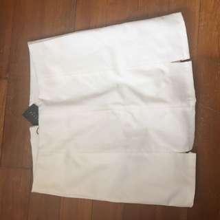 Topazette White Skirt