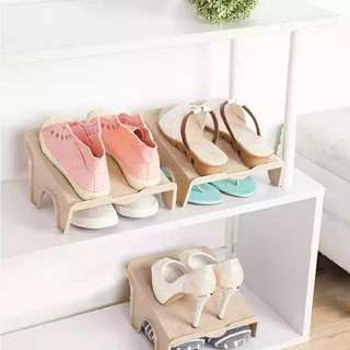 Double three-dimensional storage shoe rack