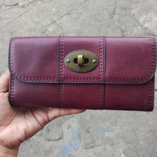 Fossil VRV Preloved Maroon