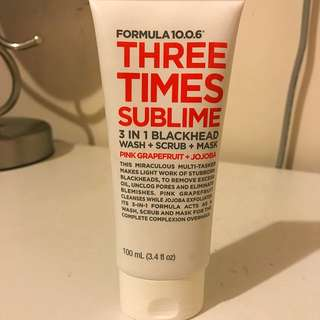 3 In 1 Blackhead Wash Scrub And Mask