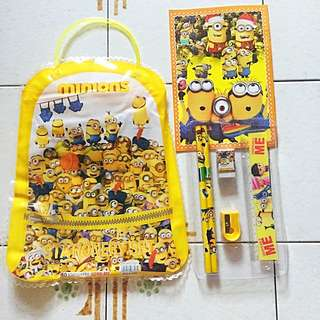 Minion Goodie Bag With Stationery Inside
