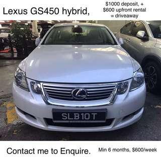 LEXUS GS450, For RENTAL, GRAB/UBER