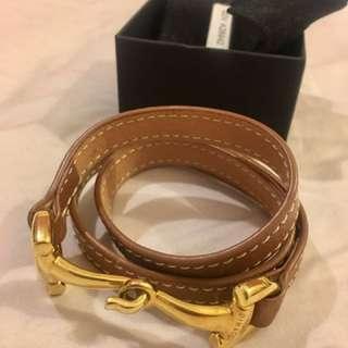 Leather Gold Dimacchi Brand Bracelet