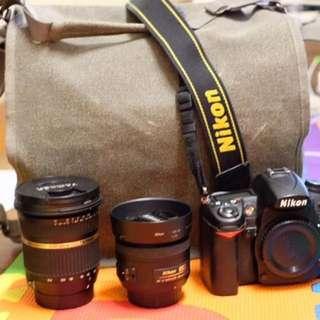 Nikon D7000 + Lenses And Bag