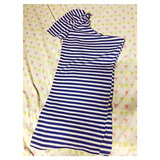 Blue One Side Dress ✔️