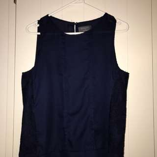 Navy Sleeveless Tank
