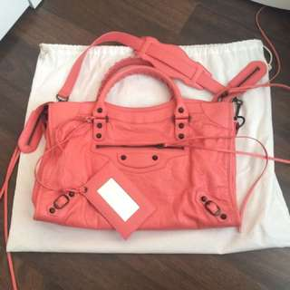 Authentic Balenciaga Classic City Bag In Pink