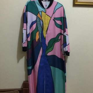 Fendi , Abstract Long Outer, Long Line Bomber