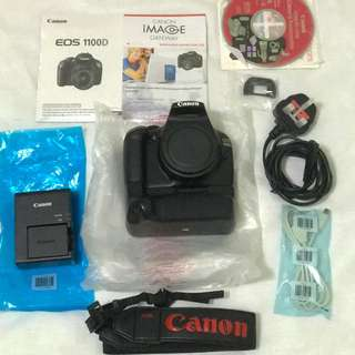 Canon 1100D With Battery Grip