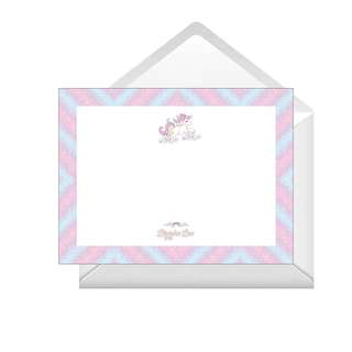 Personalized Note Cards - Unicorn Pastel
