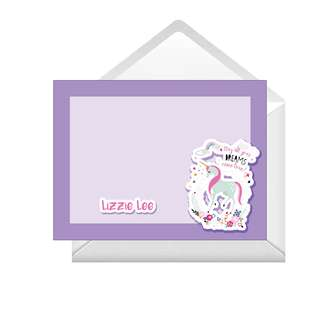 Personalized Note Cards - Unicorn Dreams