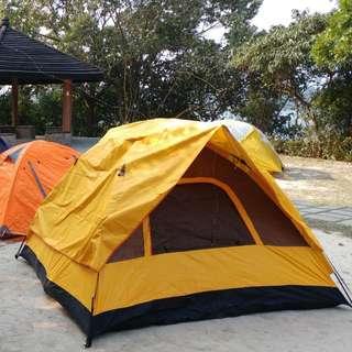 (免費)露營自動帳篷一個