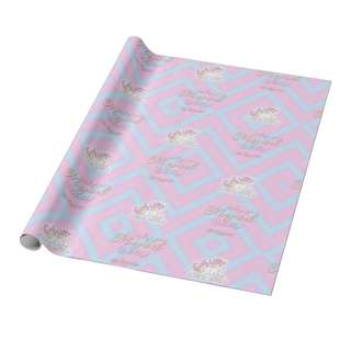 Personalized Gift Wrappers - Unicorn Pastel